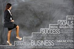 Businesswoman Goals Stock Image