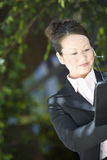 Businesswoman Going Through Documents Stock Photography