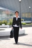 Businesswoman going to office Royalty Free Stock Images