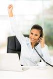 Businesswoman good news Stock Photography