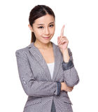 Businesswoman got an idea Royalty Free Stock Image