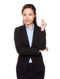 Businesswoman got an idea stock photos