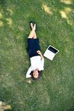 Businesswoman on grass Stock Photography