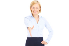 Businesswoman greating Royalty Free Stock Photo