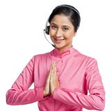 Businesswoman greeting Stock Image