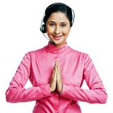 Businesswoman greeting Royalty Free Stock Images