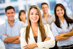 Businesswoman with a group Royalty Free Stock Images