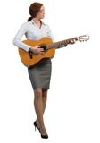 Businesswoman with guitar Royalty Free Stock Photography