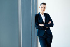 Businesswoman half length Stock Photos