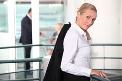 Businesswoman in a hall Royalty Free Stock Images