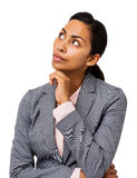 Businesswoman With Hand On Chin Royalty Free Stock Image