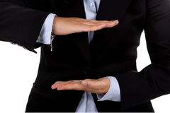Businesswoman hand sign Royalty Free Stock Image