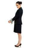 Businesswoman with handcuffs. Royalty Free Stock Photos