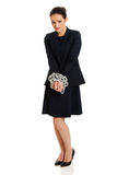 Businesswoman with handcuffs. Royalty Free Stock Image