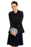 Businesswoman with handcuffs. Royalty Free Stock Images
