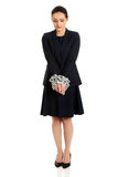 Businesswoman with handcuffs. Royalty Free Stock Photography