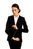 Businesswoman with handcuffs Stock Image