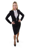 Businesswoman with hands on the waist Stock Image
