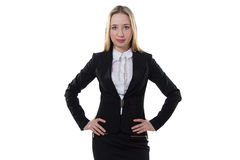 Businesswoman with hands on the waist Stock Photos