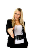 Businesswoman handshake Royalty Free Stock Photo