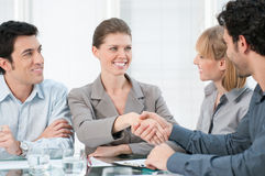 Businesswoman handshake Royalty Free Stock Images