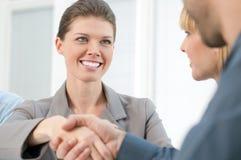 Businesswoman handshake Stock Image