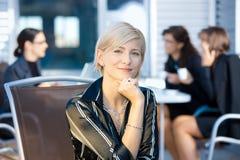 businesswoman happy Στοκ Φωτογραφία