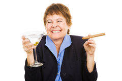 Businesswoman at Happy Hour Royalty Free Stock Image