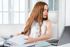 Businesswoman hard working Royalty Free Stock Image