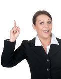 Businesswoman has an idea Royalty Free Stock Photography