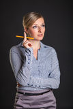 Businesswoman has ideas Stock Photos