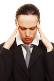 Businesswoman have a headache Royalty Free Stock Photo