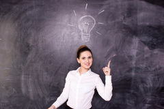 Businesswoman have an idea Royalty Free Stock Image