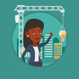 Businesswoman having business idea. Royalty Free Stock Image