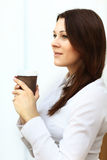 Businesswoman having a cup of coffee Stock Images