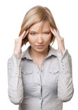 Businesswoman having headache Royalty Free Stock Image