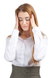 Businesswoman having a headache Stock Images