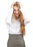Businesswoman having a headache Stock Photography