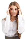 Businesswoman having a headache Royalty Free Stock Photo