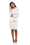 Businesswoman having headache Stock Photo