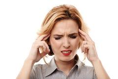 Businesswoman having a headache Stock Image