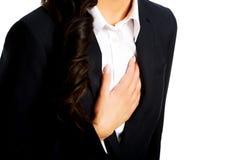 Businesswoman having heart disease Royalty Free Stock Photo