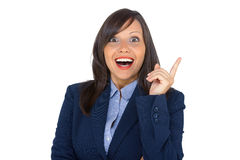 Businesswoman having an idea Royalty Free Stock Image