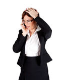 Businesswoman having news Stock Photos