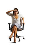Businesswoman having put her palm to forehead Royalty Free Stock Photos