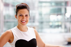 Businesswoman, head and shoulders portrait Stock Image