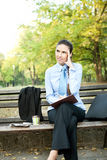 Businesswoman with headache Stock Images