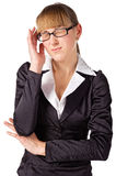 A businesswoman with a headache Stock Images