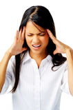 Businesswoman with headache Royalty Free Stock Image