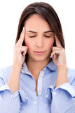 Businesswoman with a headache Royalty Free Stock Photos